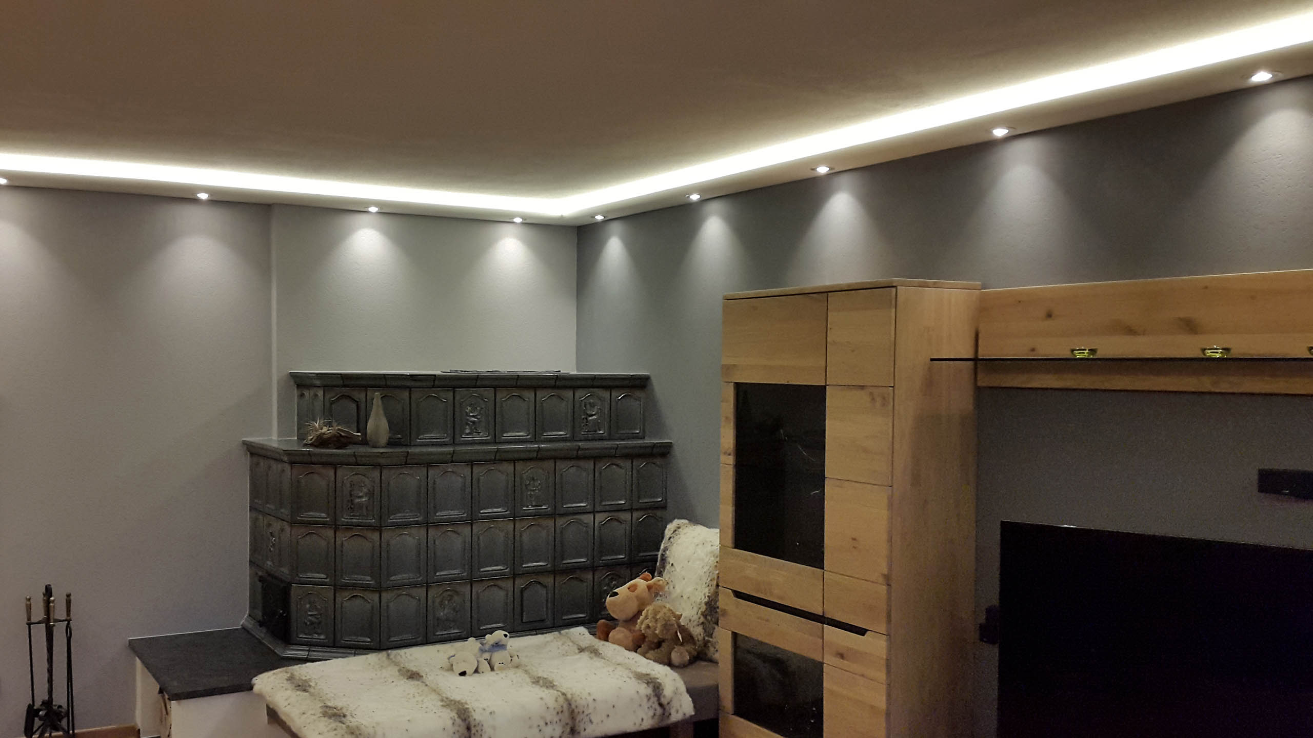 Lichtprofile für Wand und Decke
