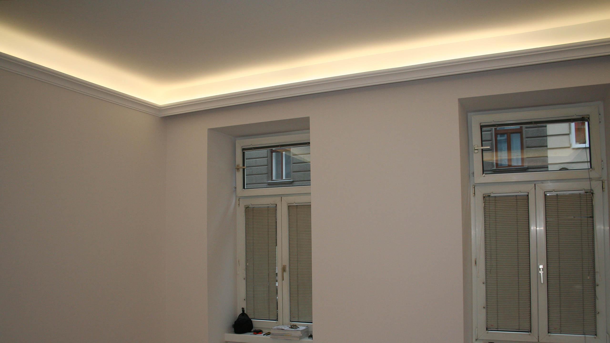 stuckprofile f r indirekte beleuchtung bendu. Black Bedroom Furniture Sets. Home Design Ideas